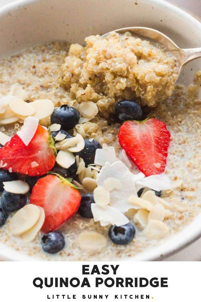 quinoa porridge pinnable image
