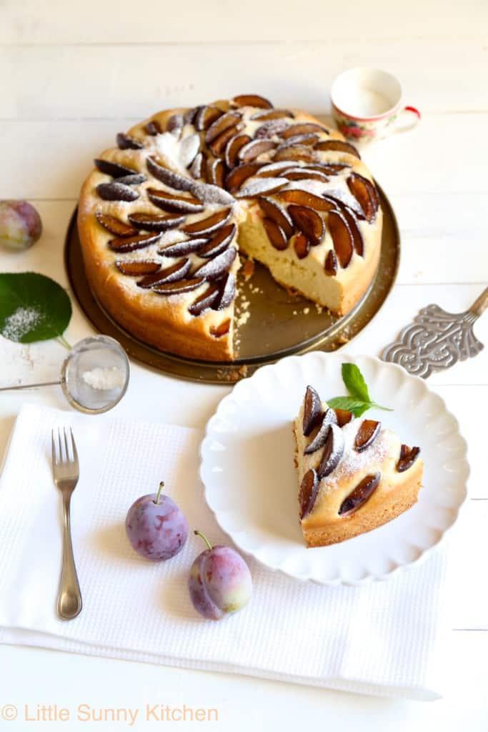 pflaumenkuchen German plum cake