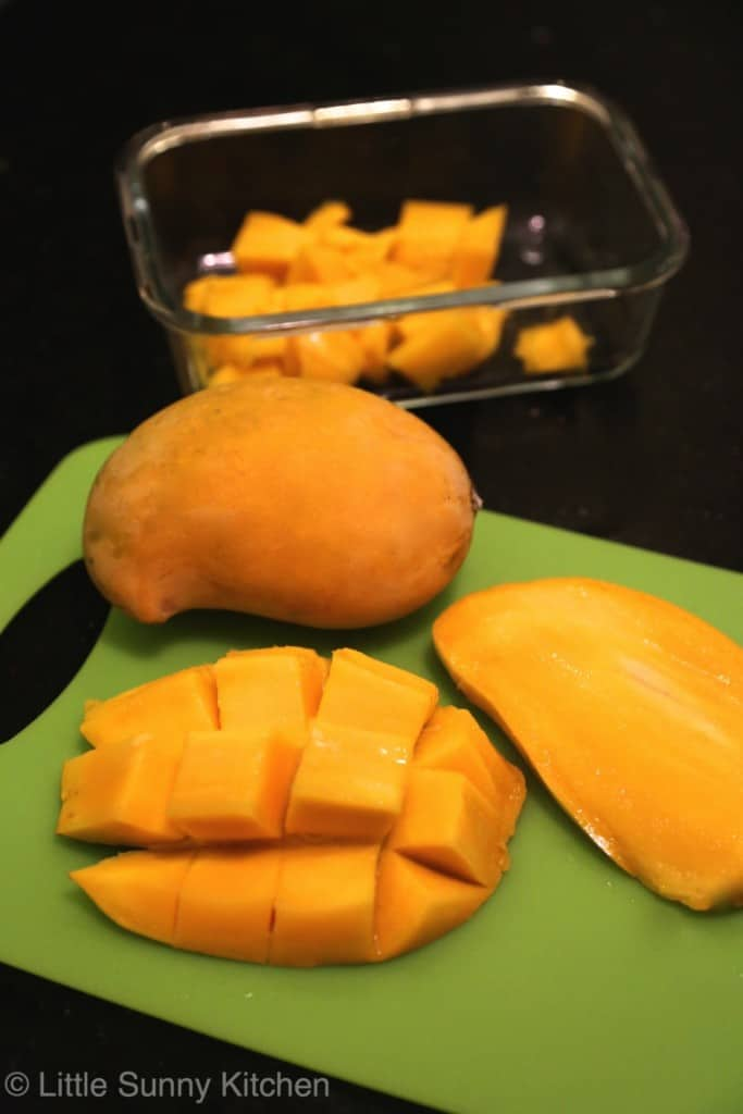 fresh mango - This is a 3 ingredient, easy, no bake, eggless mango mousse recipe. It only takes 5 minutes to prepare. You will absolutely love its silky smooth texture.