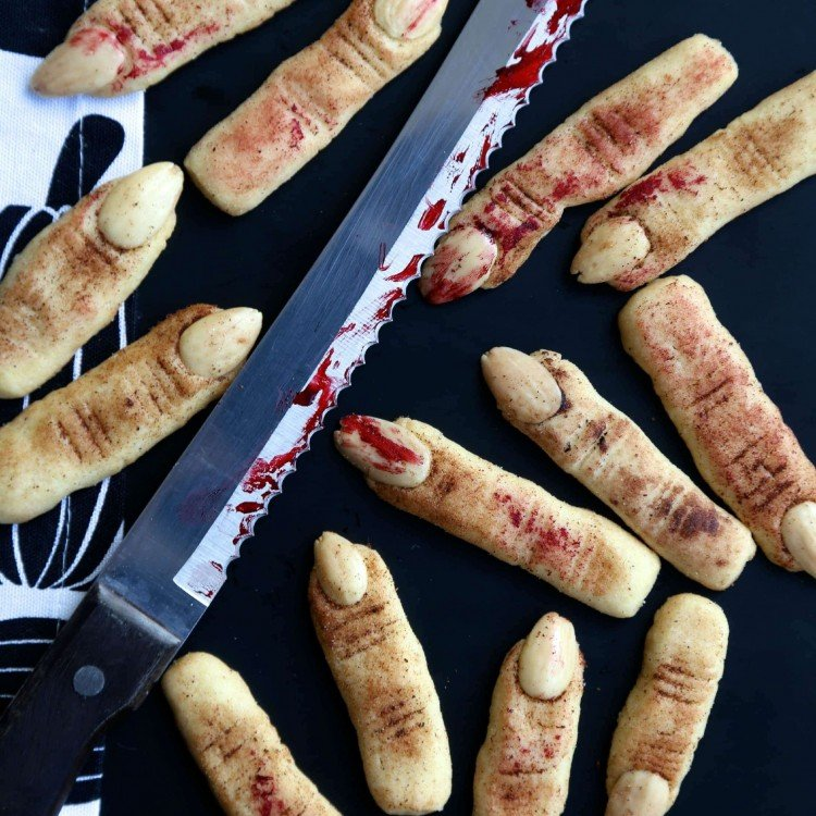 wicked witch finger cookies