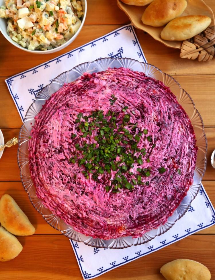 Russian Herring Under Fur Coat Layered Salad