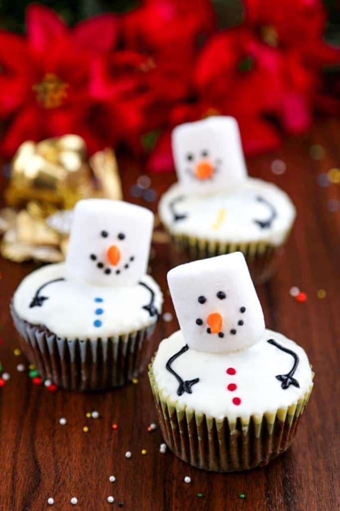 Easy Christmas Cupcakes For Kids.Snowman Cupcakes Little Sunny Kitchen