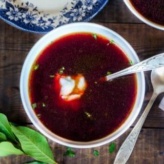 Polish Beet Borscht Soup
