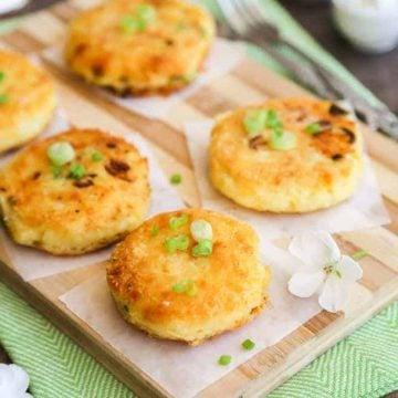 Cheesy Mashed Potato Cakes Sainsbury British gems