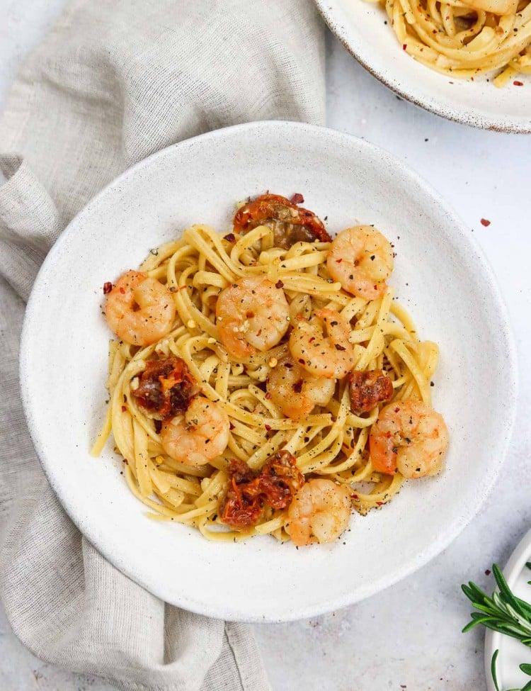 Prawn linguine pasta recipe