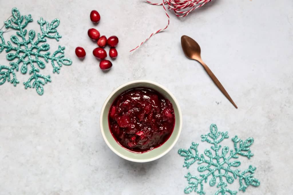 Cranberry chutney is a great Christmas recipe that can also make a lovely Christmas gift!