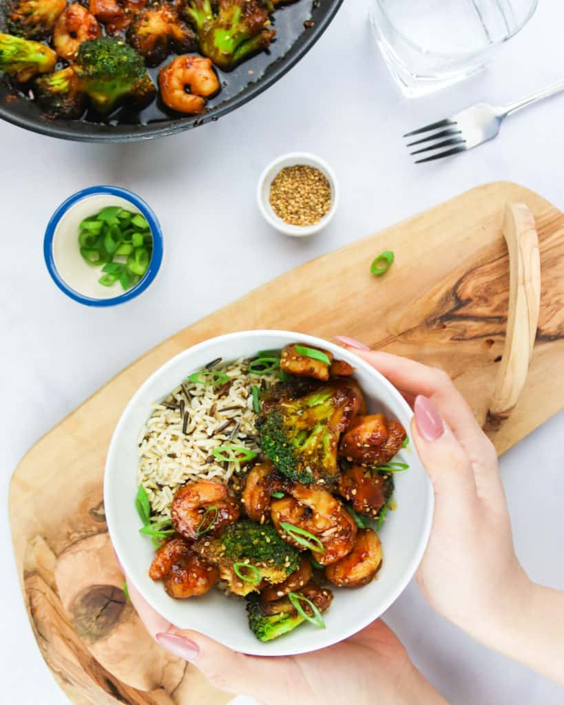 Shrimp and broccoli stir fry is an easy and healthy mid-week meal that can be on your table in under 20 minutes! Made with Iceland Foods