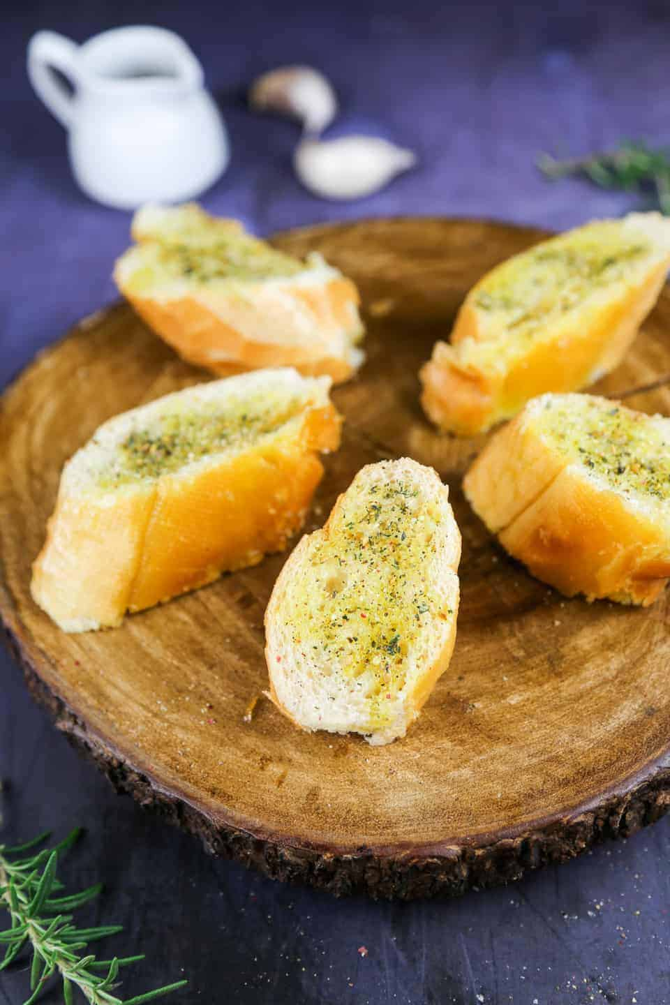 Easy garlic bread made with 3 simple ingredients...