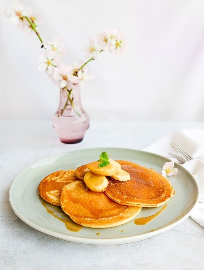 Vegan Coconut Pancakes with Caramelised Bananas