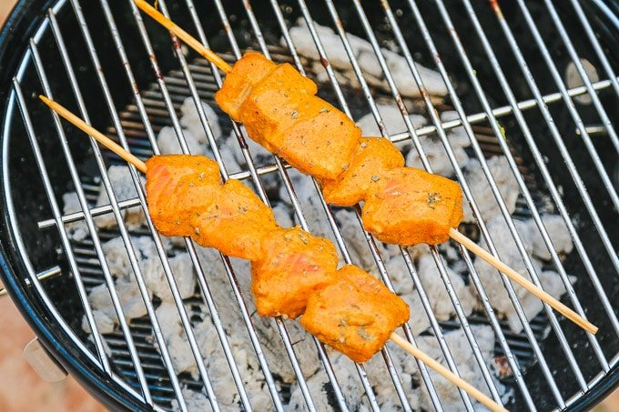 bbq tandoori salmon recipe