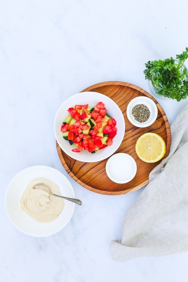 Tahini salad ingredients