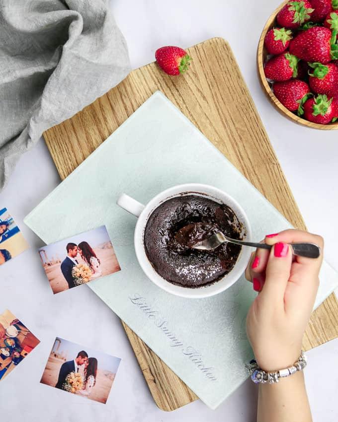 cake in a mug - vegan chocolate mug cake recipe