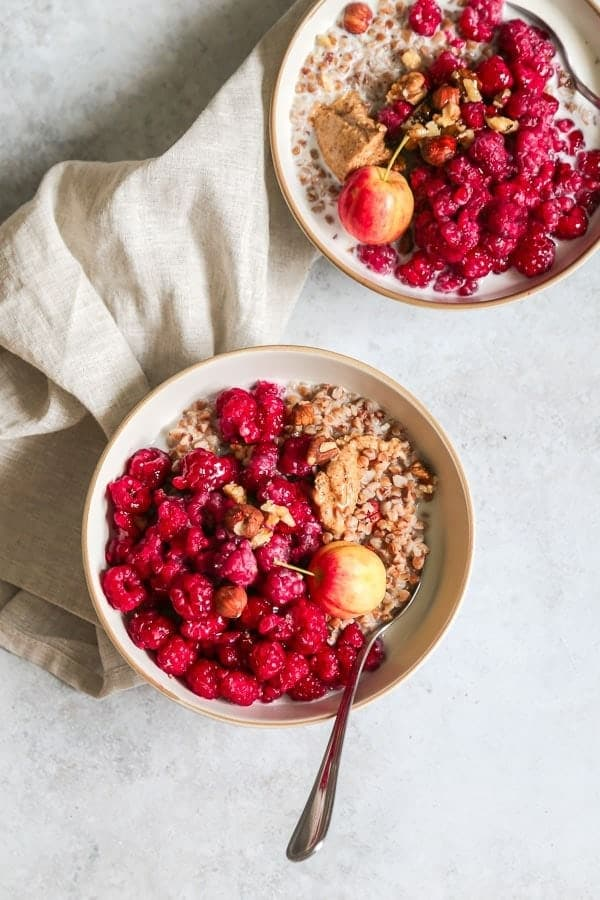 Raspberry buckwheat porridge recipe