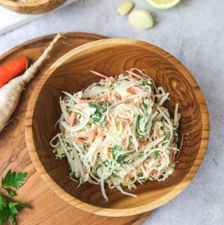 Daikon white radish slaw recipe
