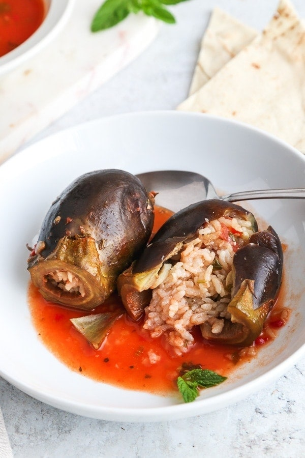 Middle Eastern Stuffed Aubergines recipe