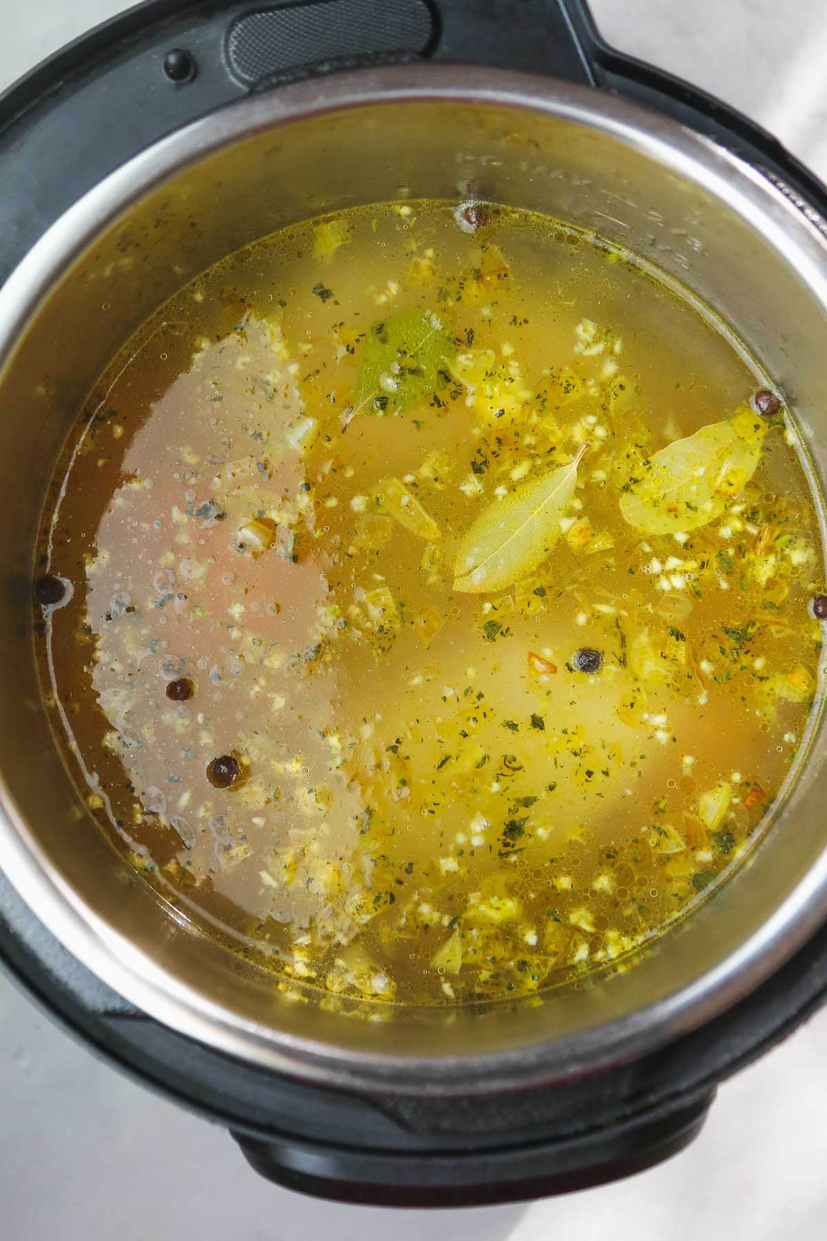 Adding vegetable or chicken stock to the Instant Pot