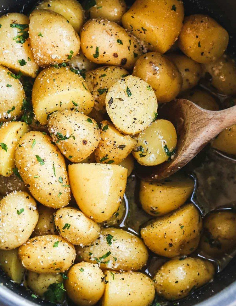 Instant pot potatoes roasted with garlic and parmesan