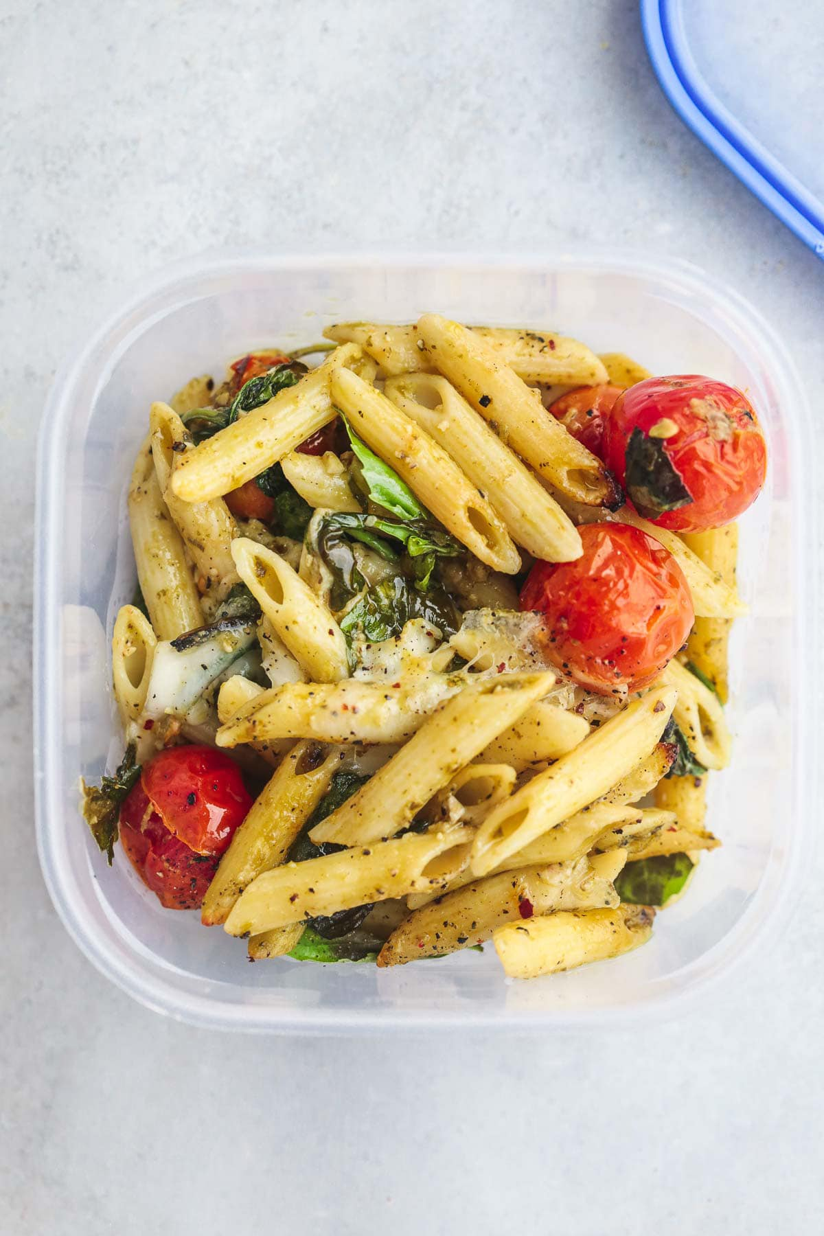 Packed lunch Caprese Pasta Bake