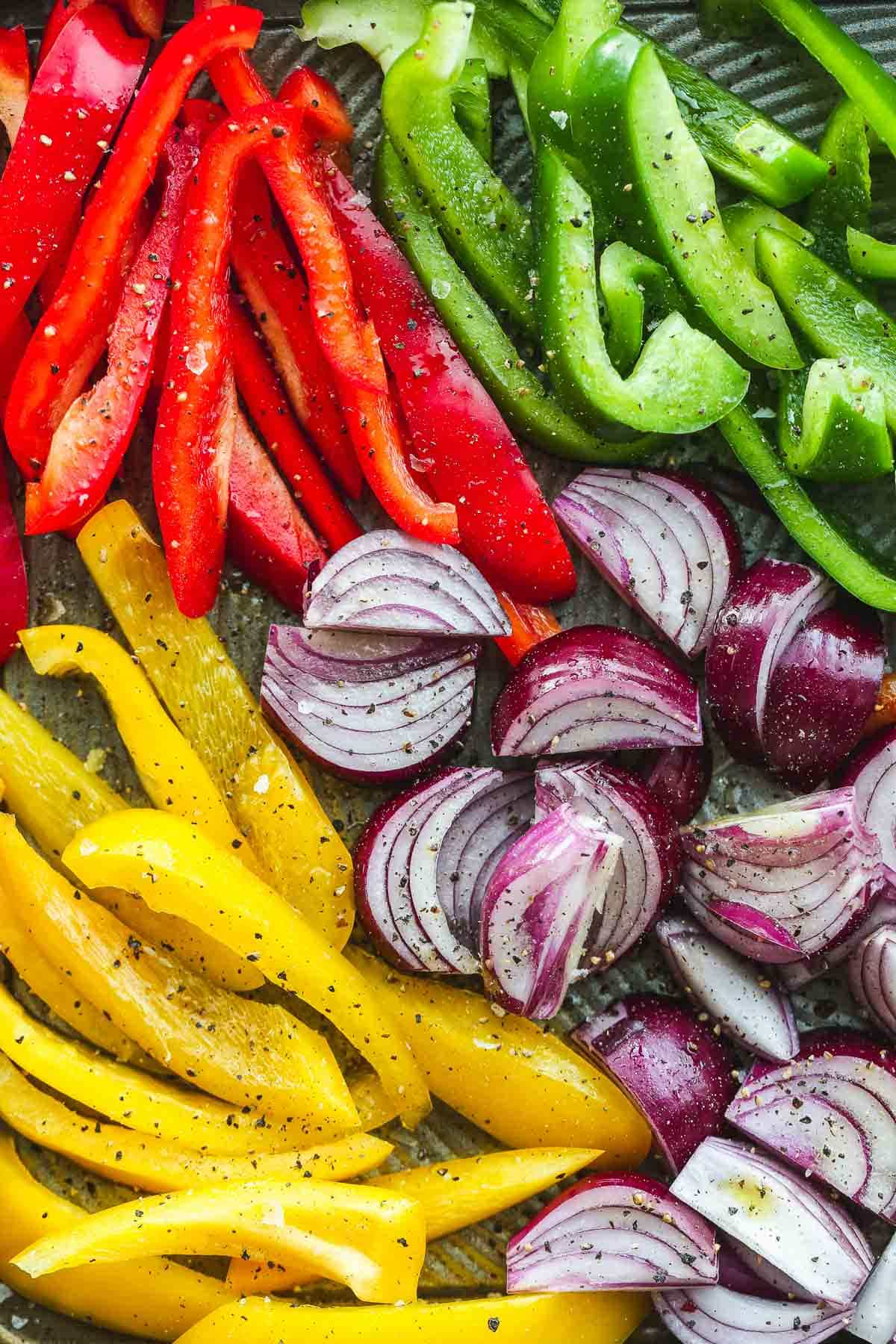 fajitas veggies seasoned