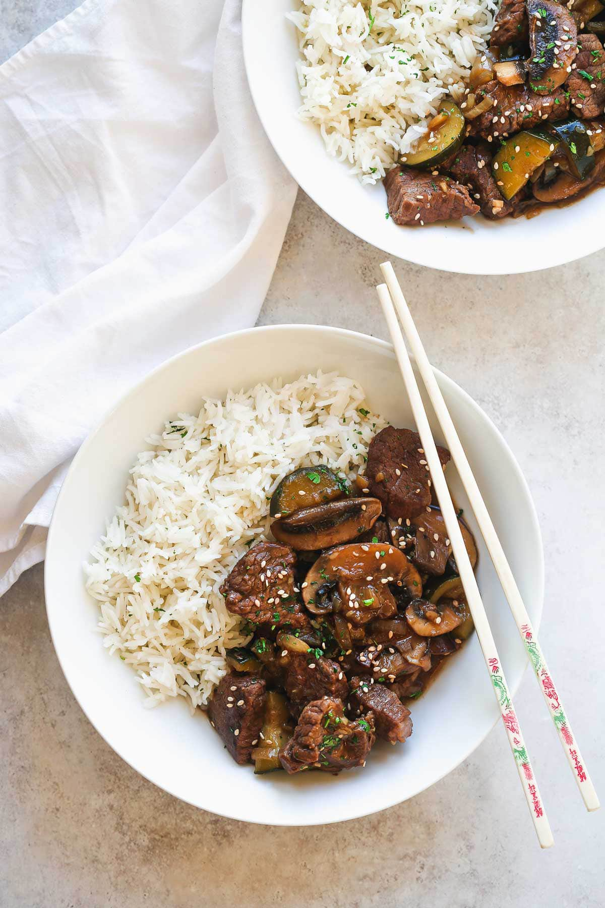 Instant Pot Hibachi Steak and Vegetables and rice