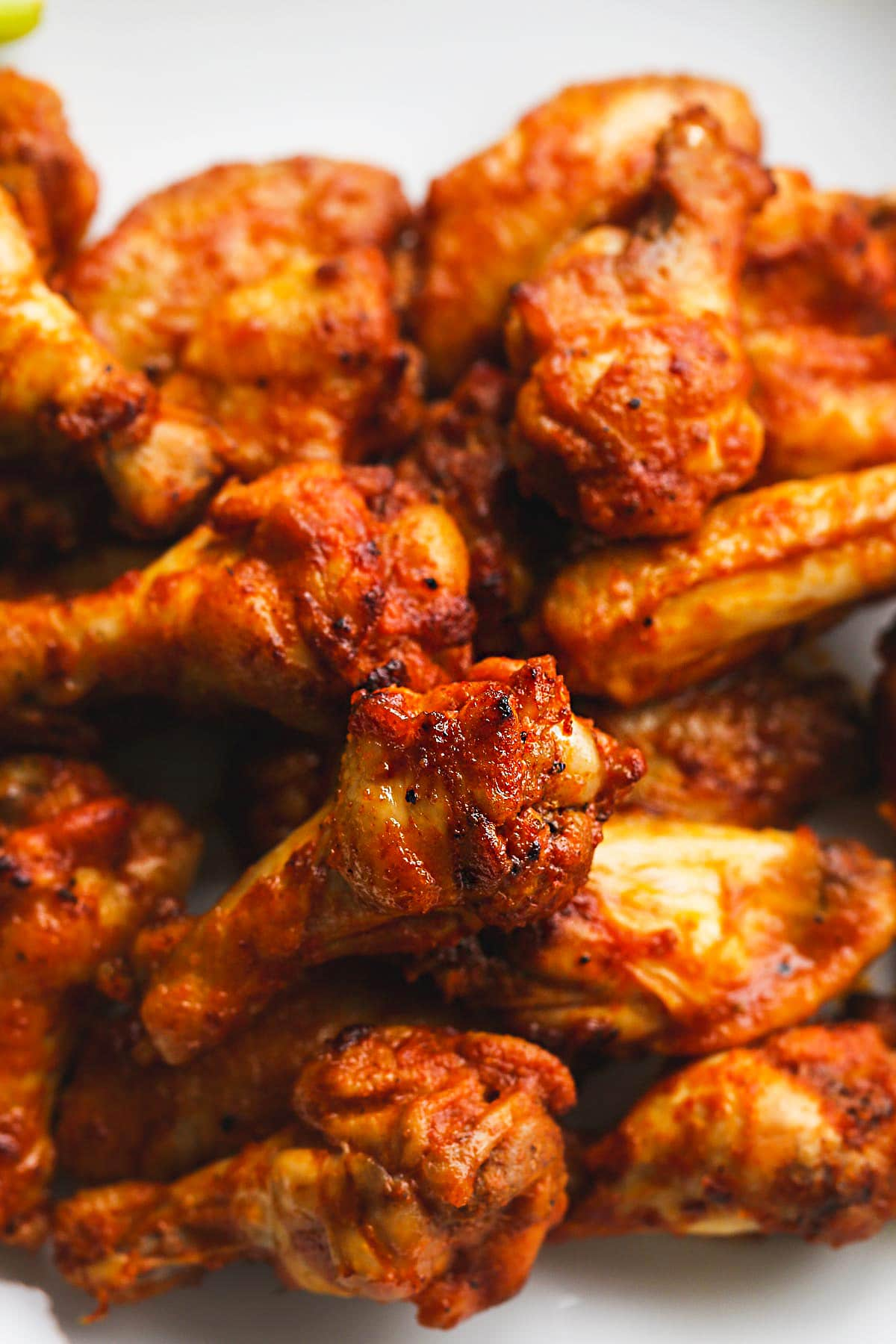 Crispy and perfectly cooked chicken wings that were made in the Instant Pot