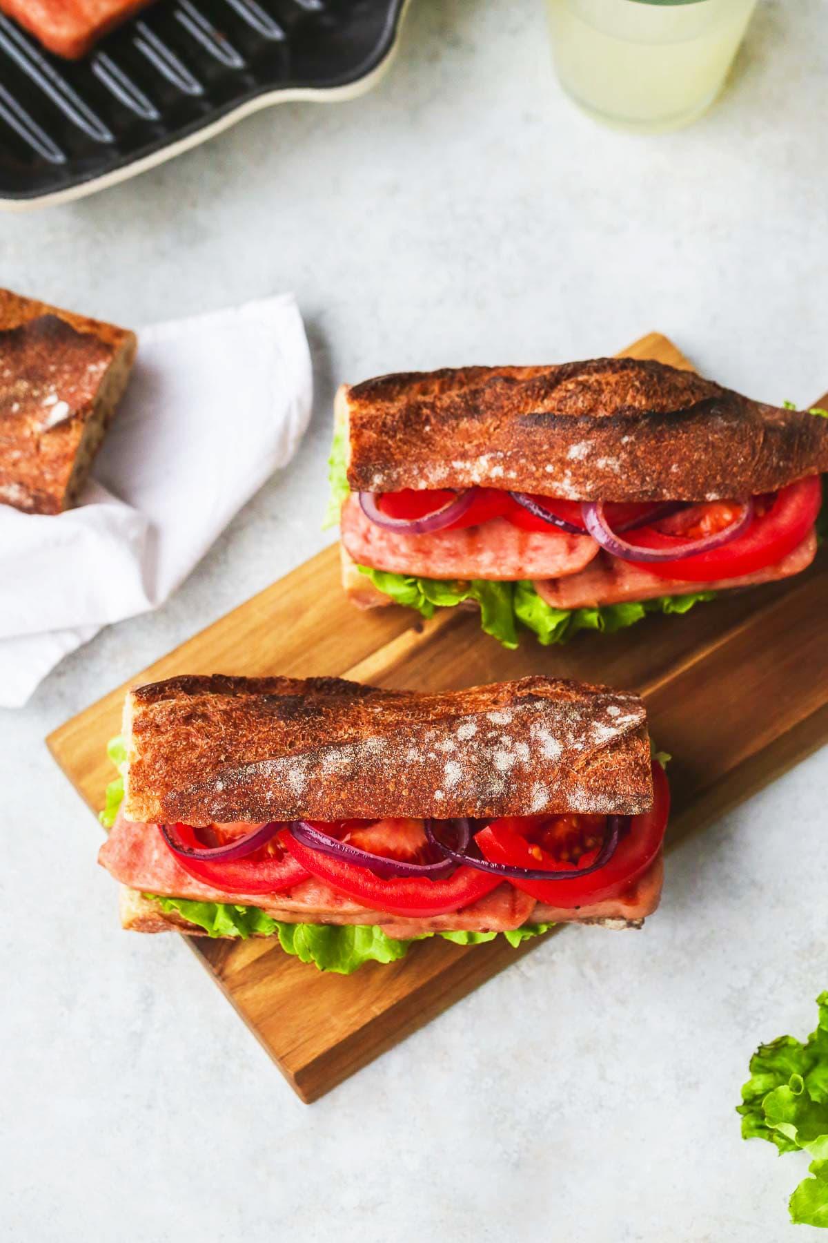SPAM® Steak Sandwich
