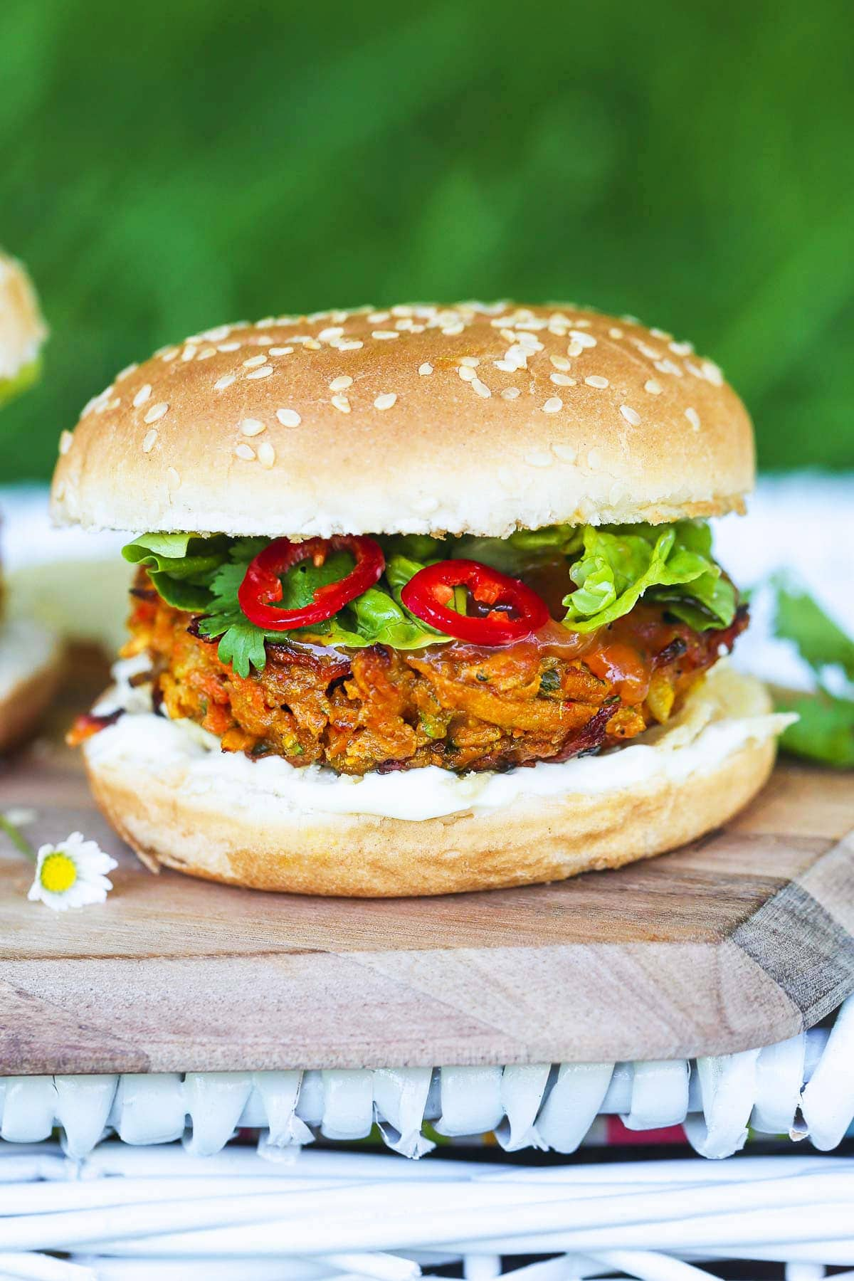 Vegan Bhaji Burger