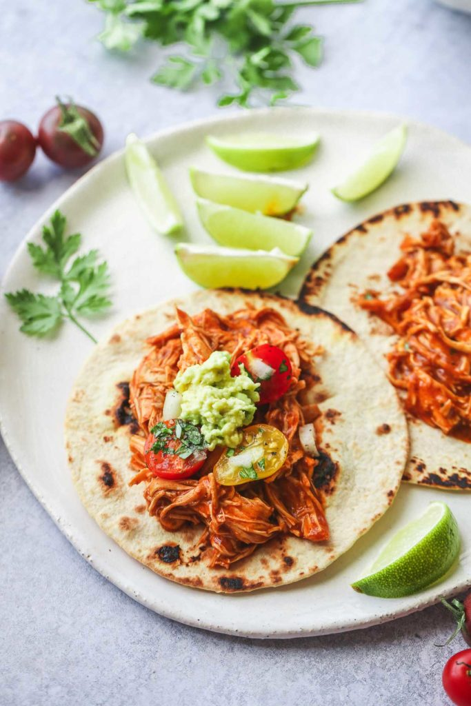Mexican Instant Pot Shredded Chicken tacos