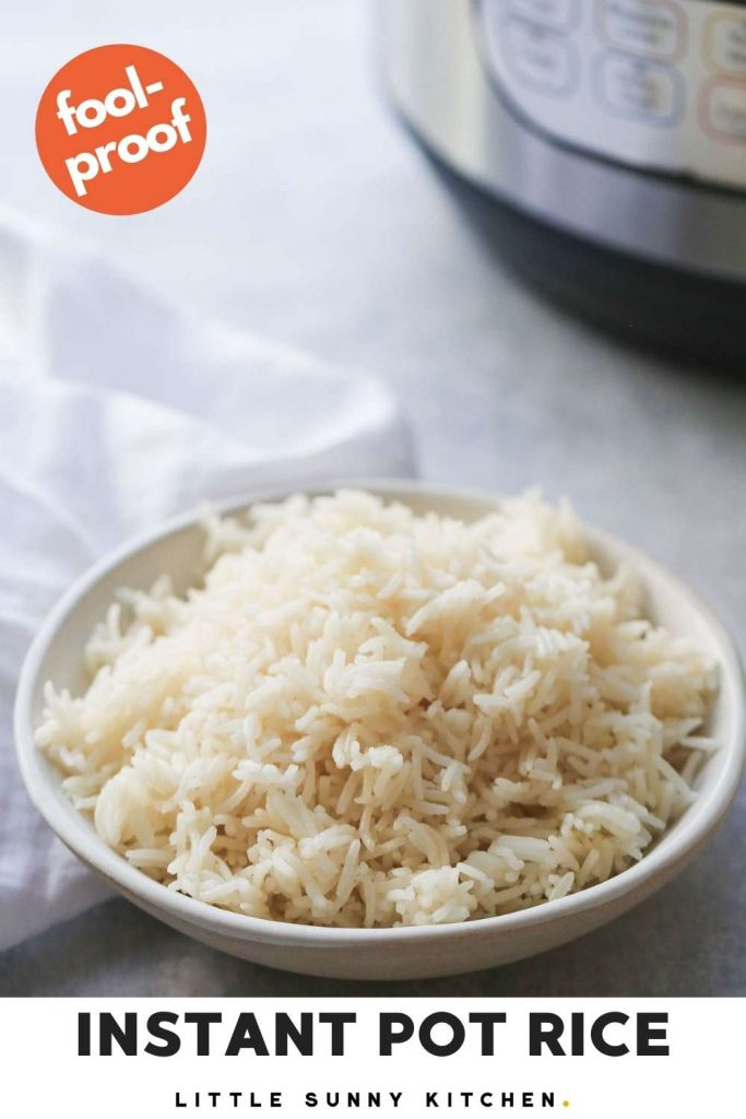 Instant pot rice pinnable image