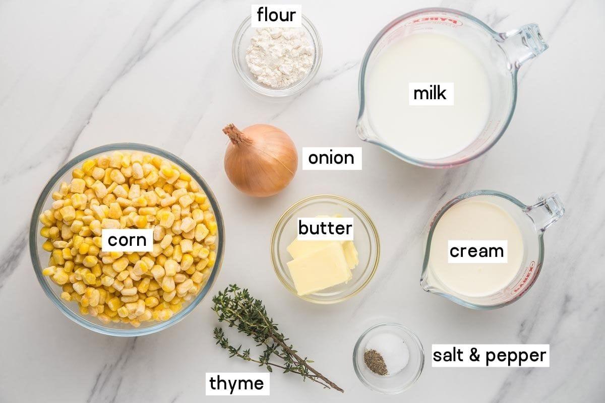 Creamed Corn ingredients