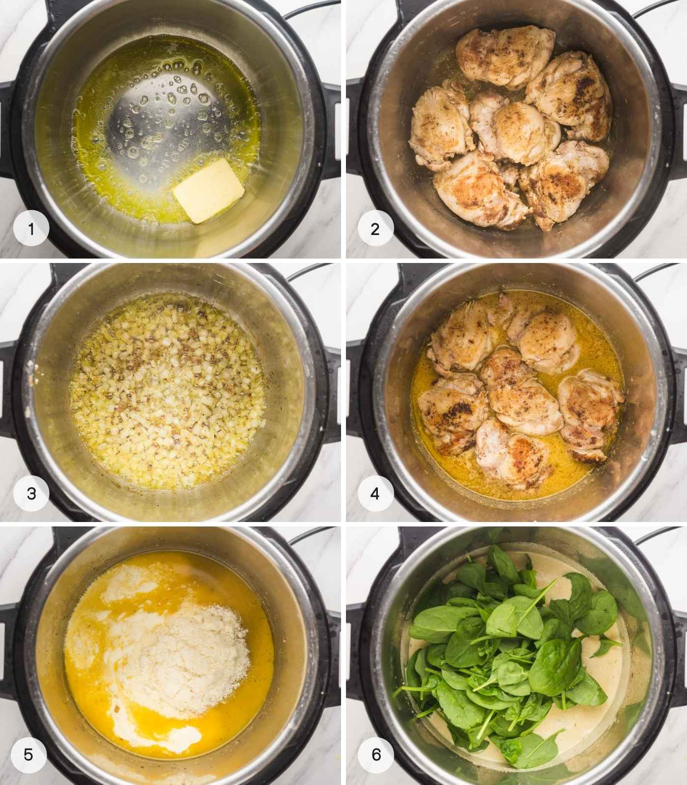 Steps on how to make mustard chicken in the instant pot