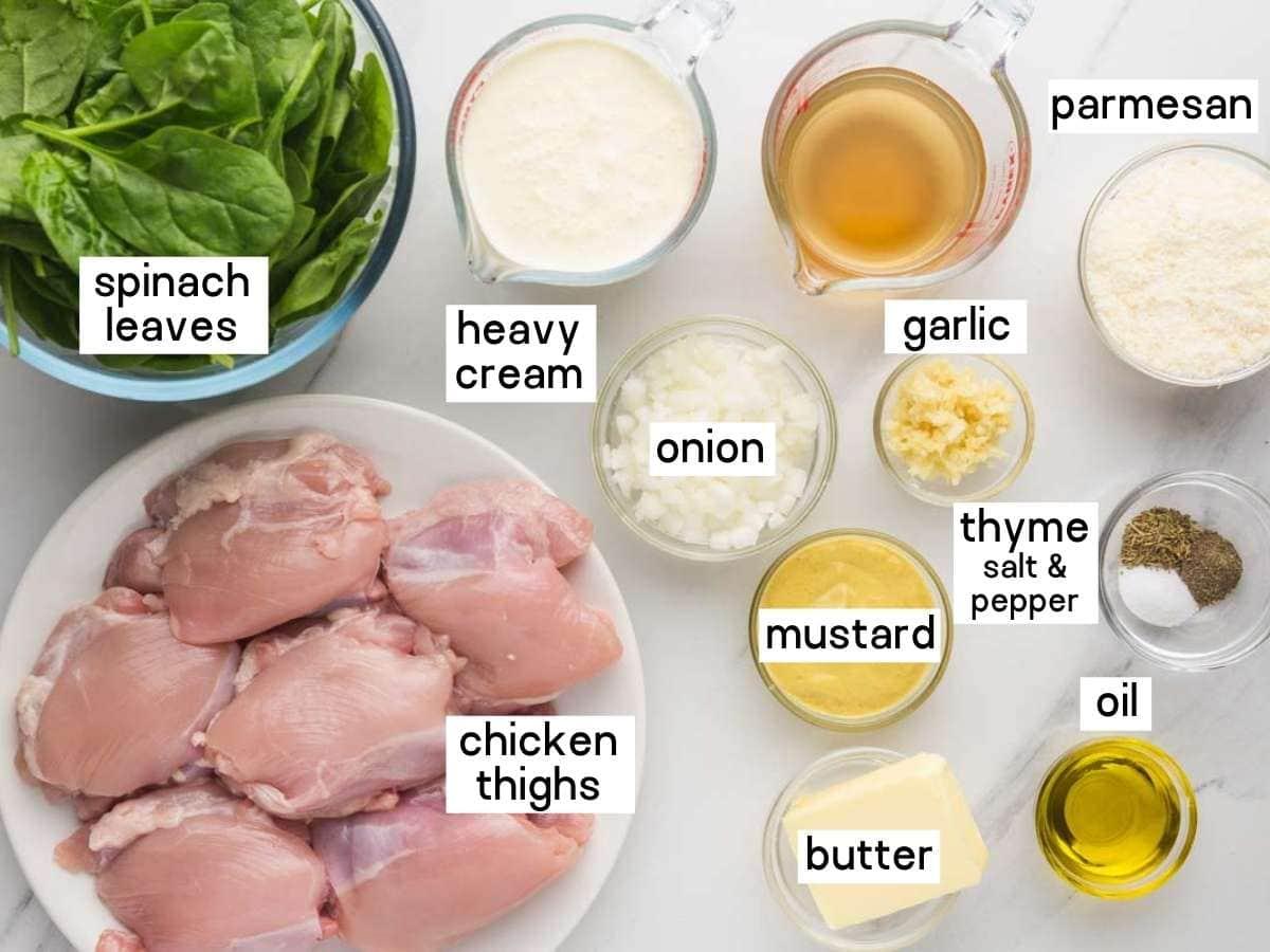 Instant Pot Creamy Mustard Chicken ingredients