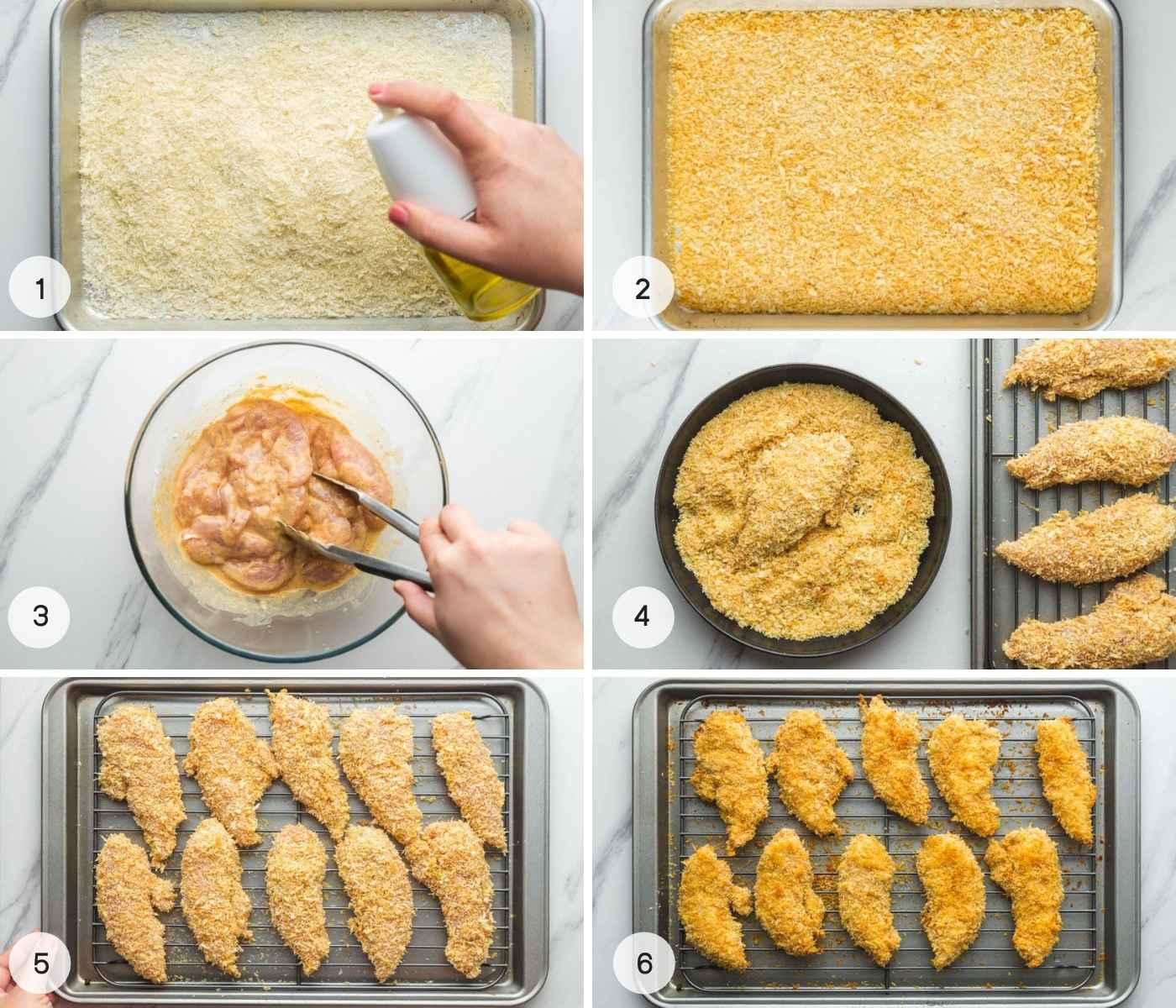 Steps on how to make Crispy Oven Baked Chicken Tenders