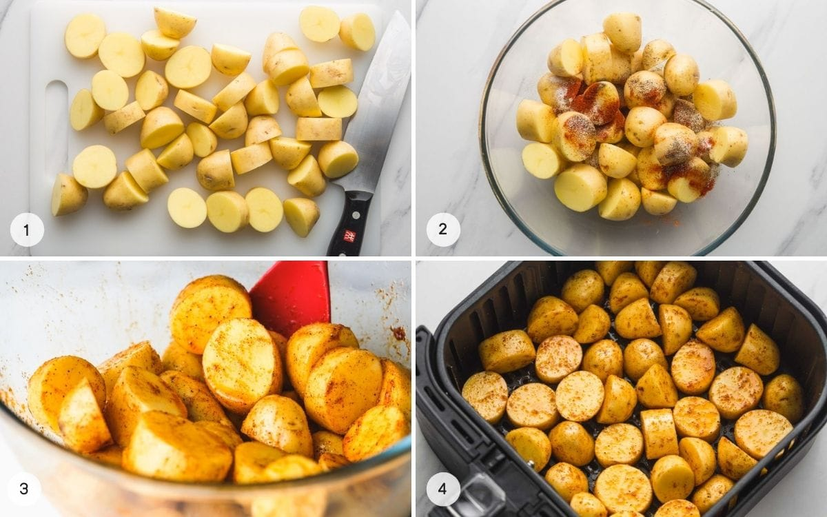 How to make roasted potatoes in the Air fryer