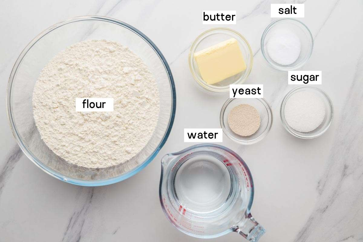 Ingredients needed to make Olive Garden Breadsticks