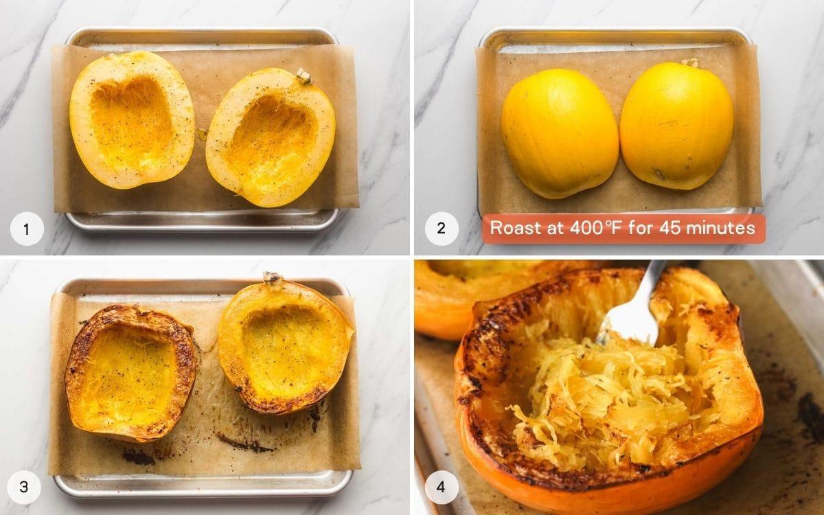 How to roast spaghetti squash