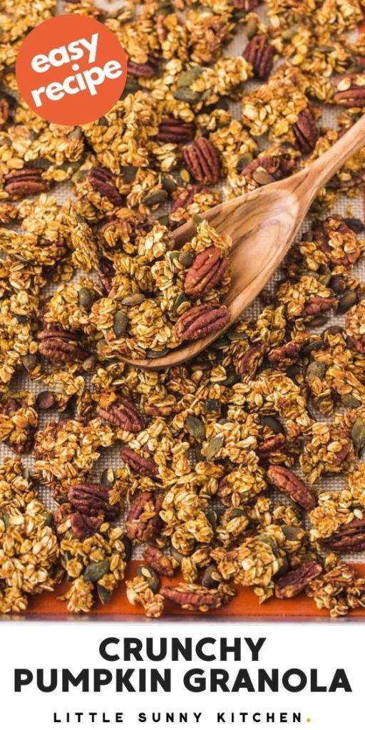 Pumpkin granola pinnable image