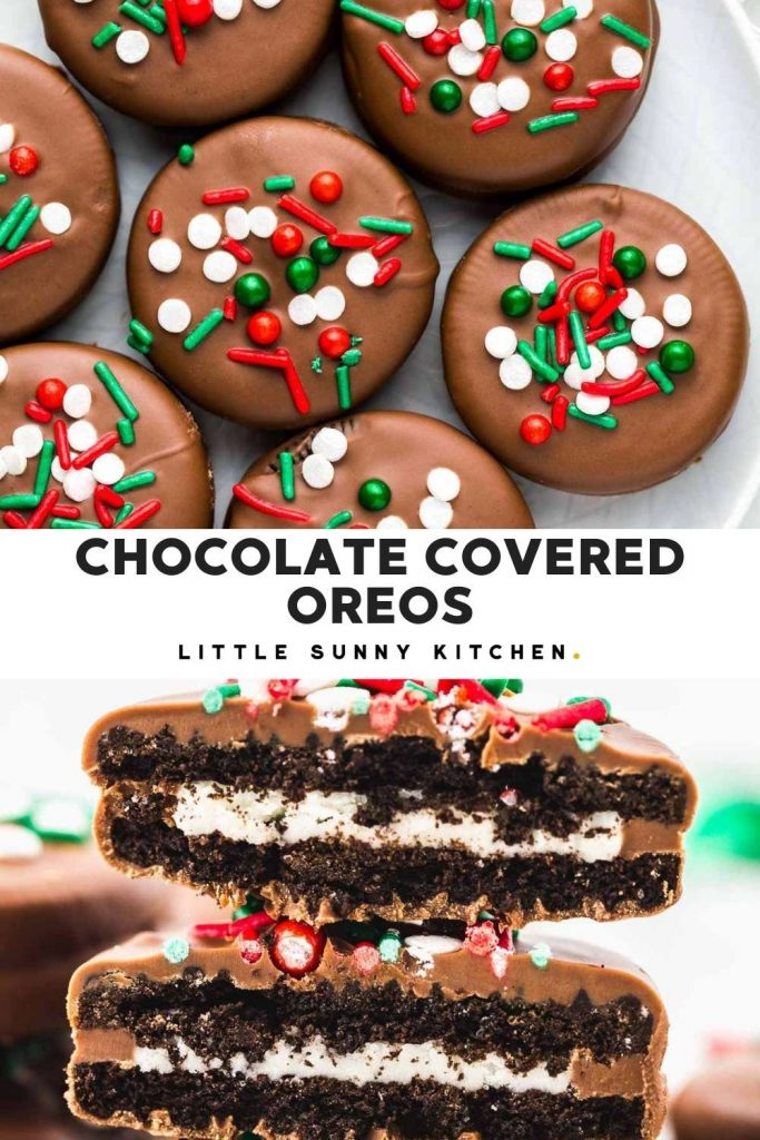 Chocolate Covered Oreos Pinnable image