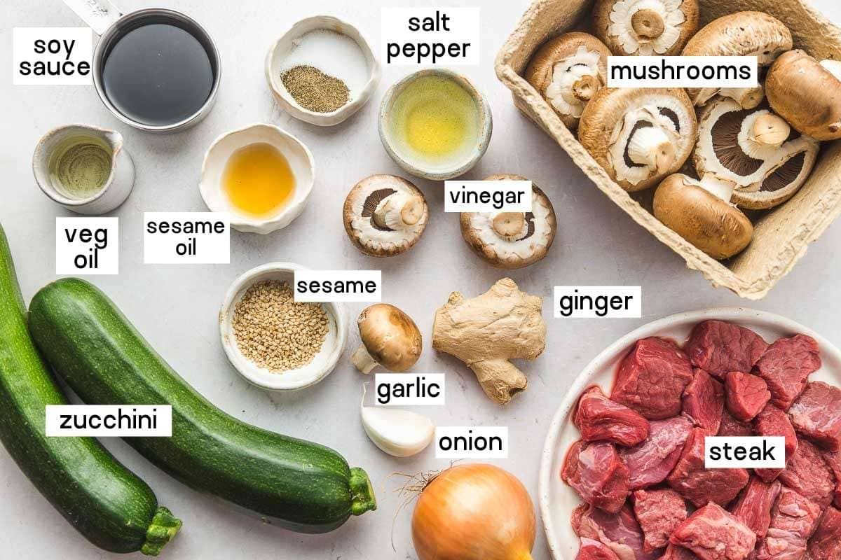 Ingredients needed to make hibachi steak