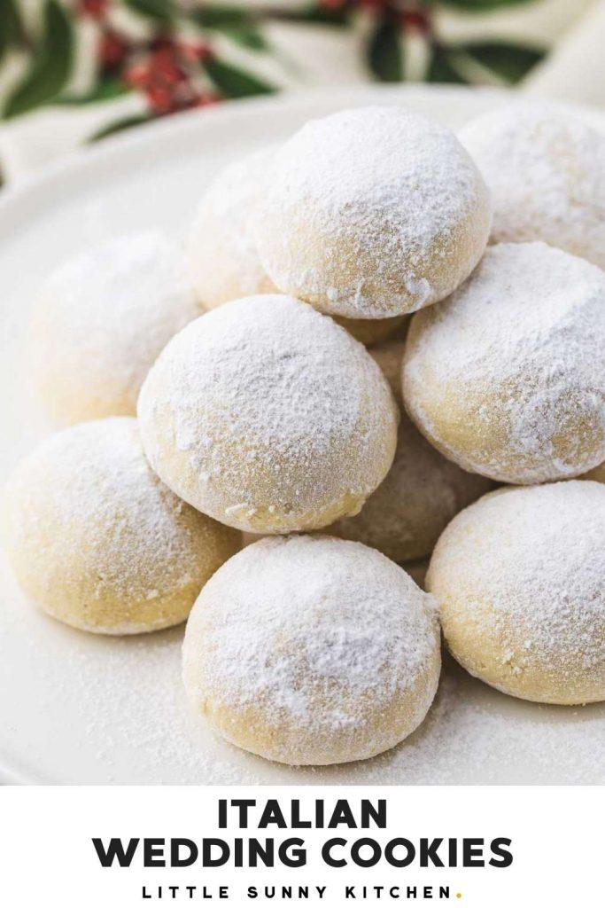 Italian Wedding Cookies pinnable image