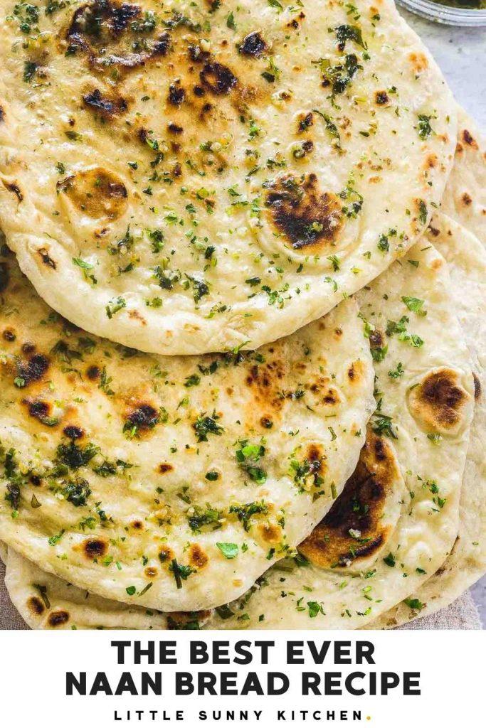 Naan bread pinnable image