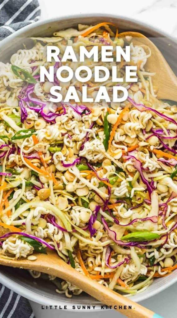Ramen Noodle Salad pinnable image