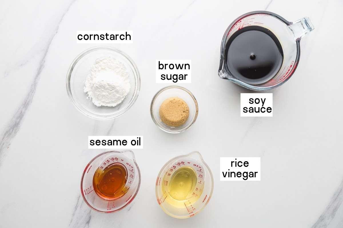 Ingredients needed to make stir fry