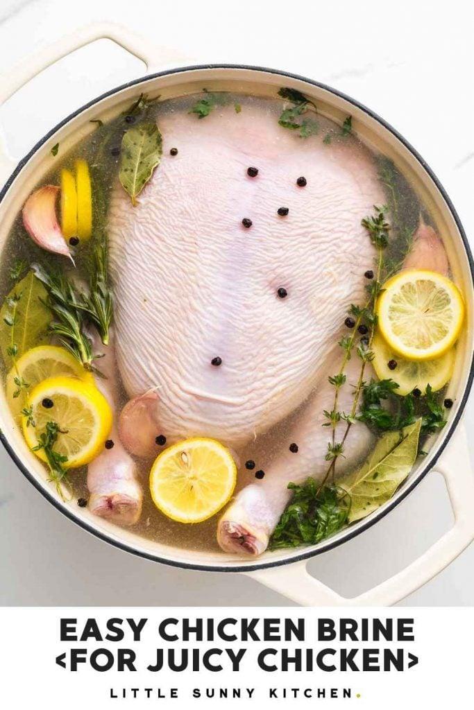 Chicken Brine Recipe Pinnable image