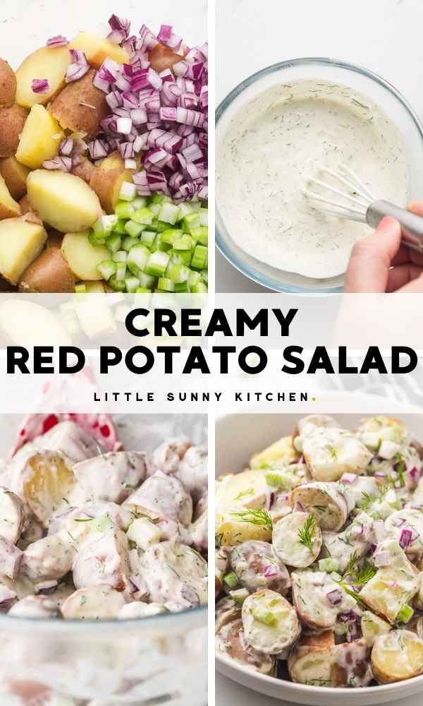 Creamy Red Potato Salad Pinnable image