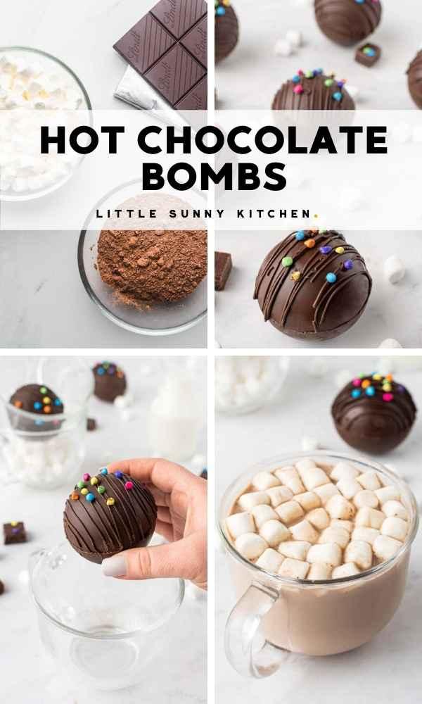 Hot Chocolate Bombs Pinnable image
