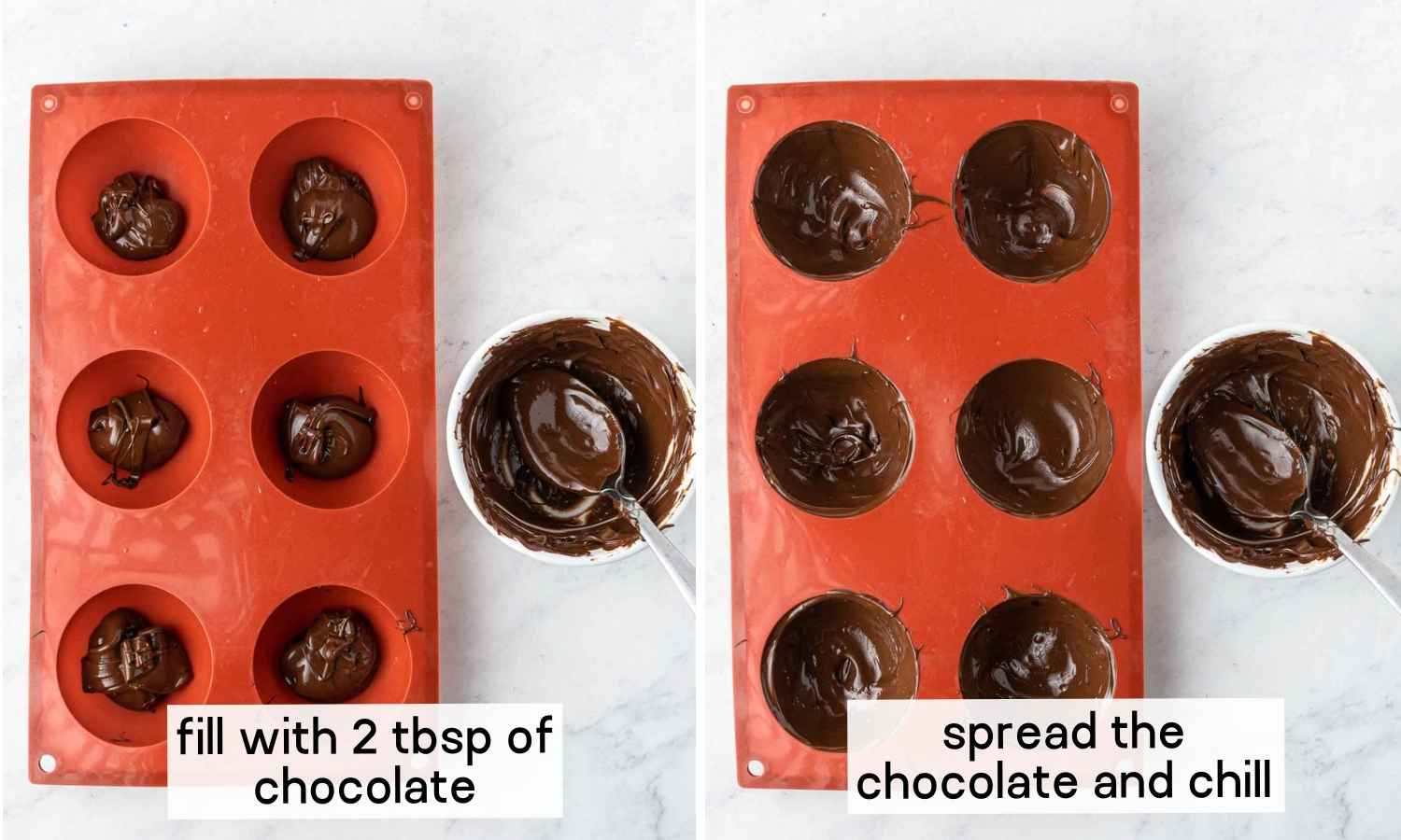 How to make Hot chocolate bombs in silicone molds