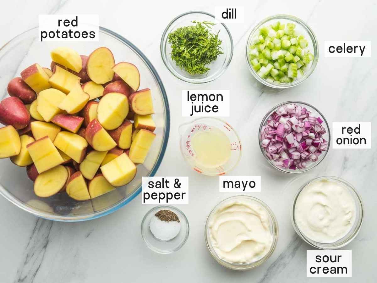 What do you need to make red potato salad