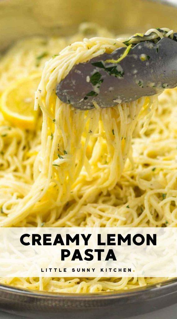 lemon pasta pinnable image