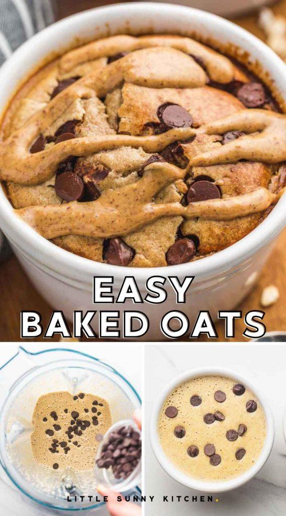 Baked oats pinnable image